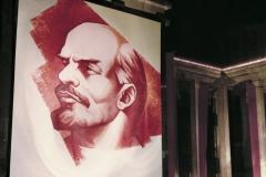 31А.Д. Тихомиров. Ленин. Полотно на  здании библиотеки им. В.И. Ленина. 15Х14 м. 1970-е