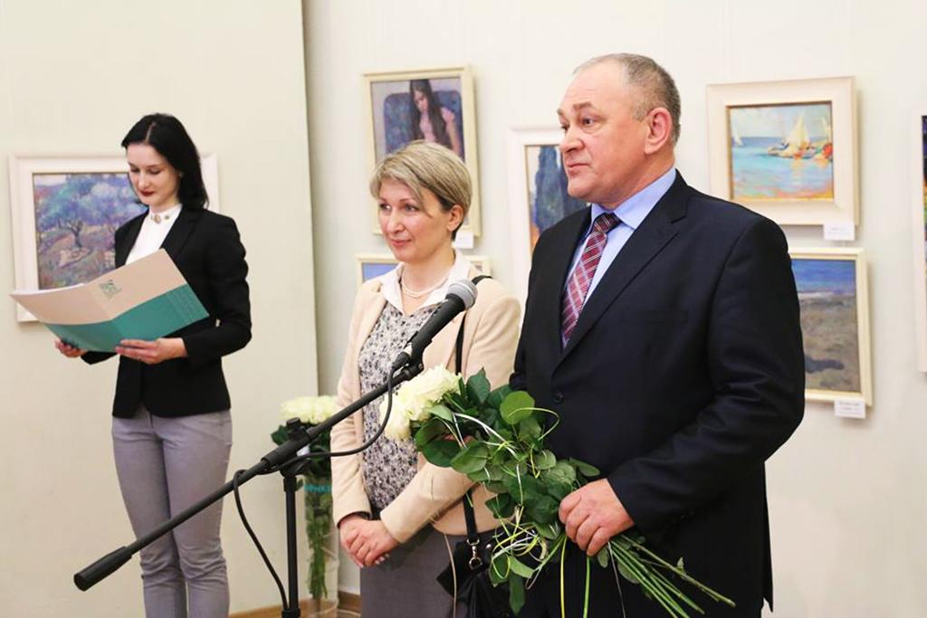А.Пушкарев. Выставка А.Д. Тихомирова. Севастополь, 2015