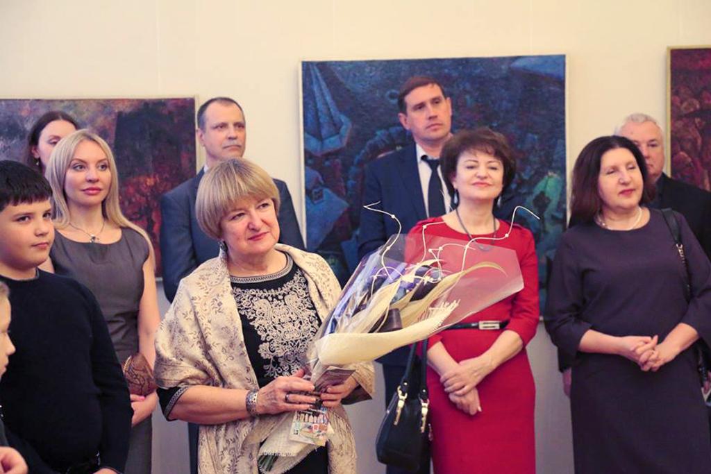 Н.Бендюкова. Выставка А.Д. Тихомирова. Севастополь, 2015